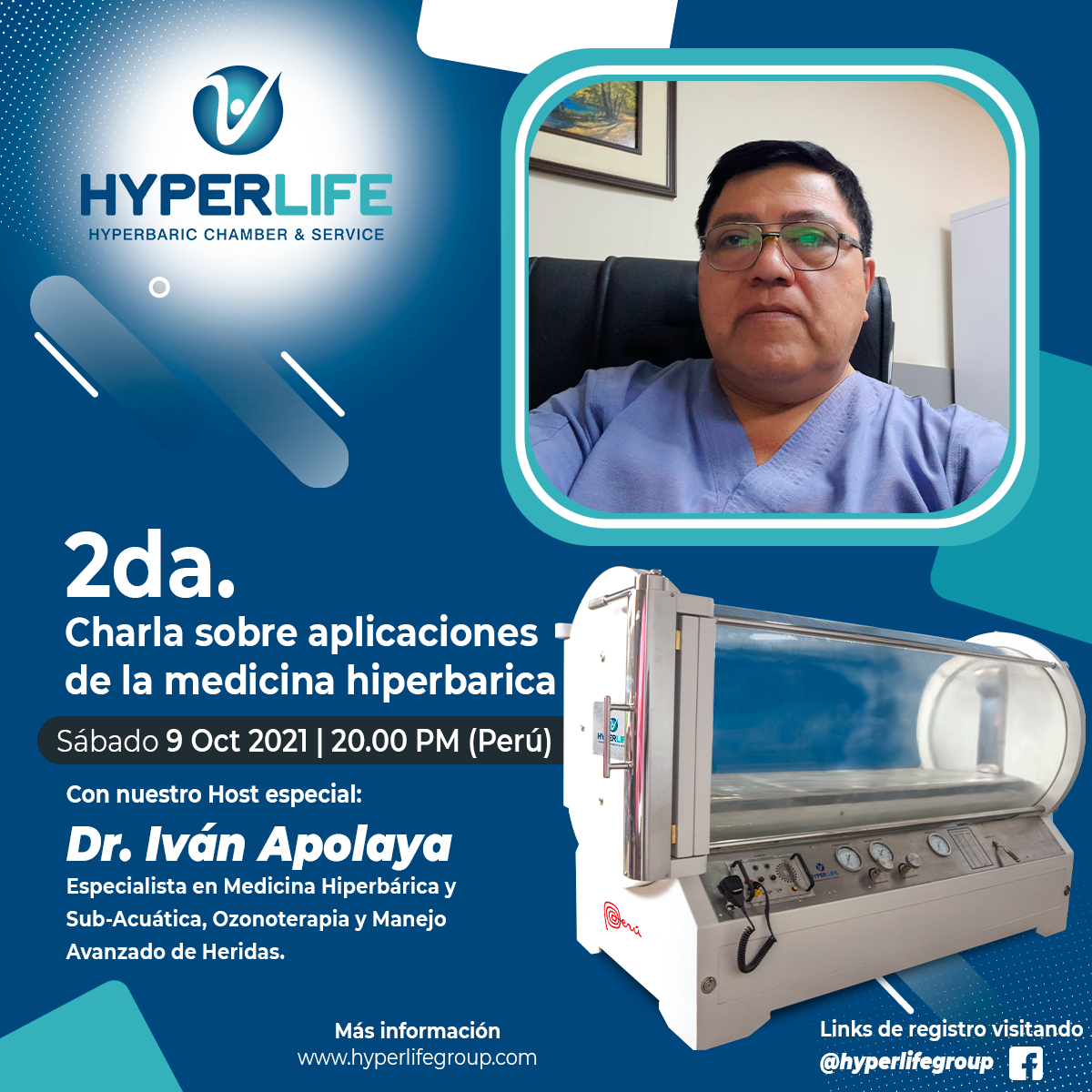 Charla medicina hiperbárica Dr. Raúl Aguado